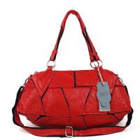 2013 fashion genuine leather sheepskin fashionable casual leather patchwork bag one shoulder handbag cross-body women's handbag