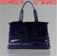 2012 down bags space bag rabbit fur innumeracy women's bags one shoulder cross-body bag