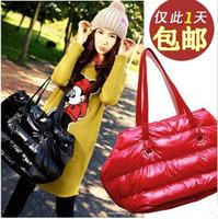 2012 women's handbag fashion space bag cotton-padded jacket bag down bag one shoulder bag