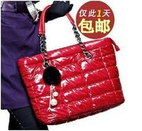 2012 autumn and winter down bag women's handbag fashion space cotton bag sponge bag cotton-padded jacket bag hangings