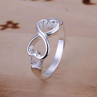 Mixed Order 925 Sterling Silver Jewelry, Hearts Bowknot, 925 Silver Rings Wedding Rings, Engagement Betrothal Rings R092