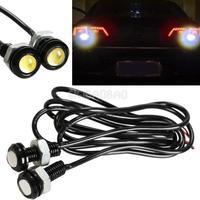 2pcs 3W Car Motor White LED Eagle Eye Daytime Running Tail Backup Light #gib