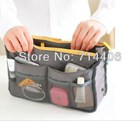 Free shipping makeup bag cosmetic cases Dual Bag in Bag 8 Colors Promotions Lady's organizer handle bag,200pcs/lot