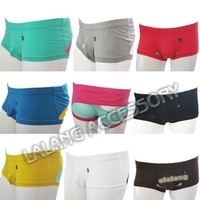Hot mens Underwear Sexy mens  Short Underpants Briefs Low Rise Cotton Mesh Patchwork Male Underwears 9 colors M L XL 652504