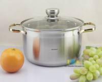 24cm stainless steel compound sole soup pot food supplement pot soup pot quality gold handle