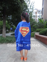 70*70CM  Double Side  Superman Cape for Children for Christmas Halloween Holiday Birthday Party