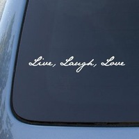5pcs LIVE LAUGH LOVE - Vinyl Car Decal Sticker Vinyl Color: White