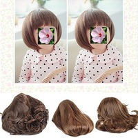 2013 Hot Sell Periwig Pretty Baby Children Kids Girls Wig Hairpiece Hairband