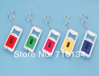 Free shipping Multifunction  LED keychains with Bottle opener  led flashlight led torch