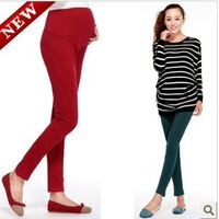 Free Shipping Autumn  Winter Multicolour Maternity Pants Slim Pencil Pants Legging Knitted Pants