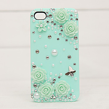 Green flower cell phone case  for iphone   mobile phone protection case protective case