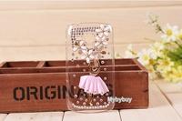 Handmade 3D Ballet Girl Bling Diamond Case For Samsung Galaxy S Duos S7562  Free Shipping