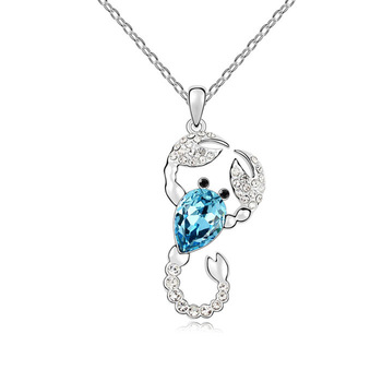 Niceter Austrian Crystal Scorpio Pendant Necklaces,N8034,Classic Necklace,Fashion Accessory ,Free Shipping .Wholesale and retail