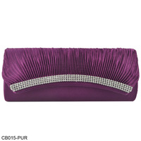 New Arrival! 4 Row Of Diamante Generous Ladies Evening Bag,Purple Fashion Party Bags, Free Shipping/CB015