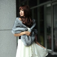 free shipping 2013 sweet bride bridesmaid dress faux fur shawl fur cape lengthen thickening thermal