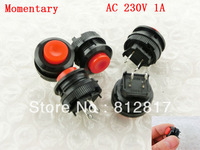 Arcade Game Machines 14mm Diameter Red Cap Momentary Push Button Switch