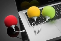 Hot Items Portable Audio Dock Mini Ball Portable Speaker sound for 3.5mm Audio Jack iphone 3 4 4S 5 ipod touch,DHL Free Shipping