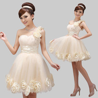 2014 New Arrival  Fashion  Short  Prom dresses Bridesmaid Dress Empire Plus Size Free Shipping Z134