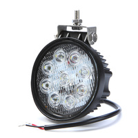 "Hot Selling factory Discount 4"" inch 27W 12V & 24V White LED Fog Work Working Light Offroad Spot Flood Car Super Bright"