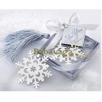 Snowflake Bookmark Favors Bridal Shower Favors Wedding Favor Free shipping