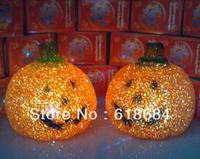 Hot selling Large Pumpkin Night Light Colorful Crystal Crystal Light Halloween Pumpkin Gift