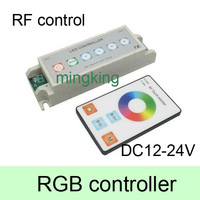 6pcs/lot Smart DC 12-24V 6 Key RF Signal Dimmer Controller +4 Key Wireless Touch Panel Remote for RGB LED Strips Light White