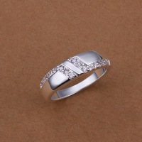 Free Shipping!! Hot  Wholesale Brand New Fashion 925 Sterling Silver DOUBLE L Ring CR44 Size 8