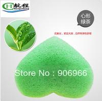 Best Selling!!4colors heart-shaped 100% Natural Konjac Facial Sponge Facial Wash Cleaning Puff 70*90*30mm 5Pcs/Lot Free Shipping