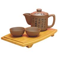 Yixing tea set ceramic travel kung fu teapot teaberries set