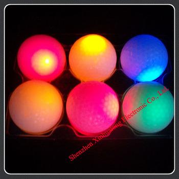 2013 luminous golf ball , led novelty golf night training ball