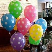 Free Shipping Polka dot balloon dot print 12 balloon wedding party wedding supplies