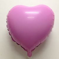Free Shipping 18 solid color heart aluminum birthday aluminum foil balloon heart balloon