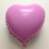 Free Shipping 18 solid color heart aluminum birthday aluminum foil balloon heart balloon