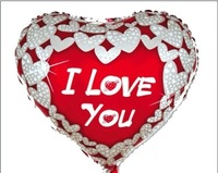 Free Shipping 18 heart aluminum balloon marry wedding decoration balloon