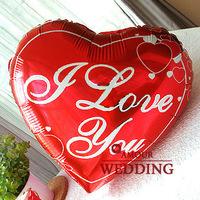 Free Shipping Red romantic 2012 balloon heart 18 aluminum balloon
