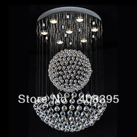 Free Shipping 50W Modern Crystal Pendant Light with 7 Lights and Crystal Beaded Globe Decor (GU10 Base)