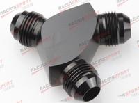 AN8 AN -8 8AN AN 08 -8AN Y Block Adapter Fittings adaptor AD65007 Black