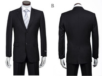 Free shipping!!!Top sale men brand name business suit fashion wedding suit two  buttons size S-4XL