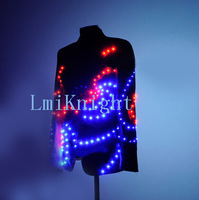 Led luminous superjunior suit outerwear luminous performance wear luminous
