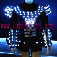 Led light emitting costume robot Women luminous props clothing clothes luminous