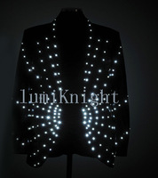 Led luminous superjunior performance wear luminous clothes led clothes