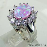 Pink Opal Men or Women Ring Single opal ring DR03010689R-5.7G Free Shipping
