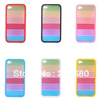 Rainbow Frame Protective Case for iPhone 4 / 4S