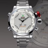 Новый weide бренда Мужские кварцевые моды Военно наручные часы mlae relojes кожаный полоса роскоши моды lcd погружение спортивные часы подарки