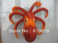 Free Shipping Wholesale 12Pcs/Lot Red Octopus Stuffed Plush Glass Sucker Toys Dolls Gifts Car Home Decor Toys 1 Pcs