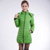 2014 candy color slim medium-long down coat female