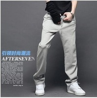 Male sports pants trousers spring men's clothing thin slim skinny pants wei pants casual male trunk