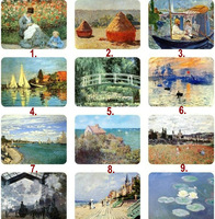 8cm*6cm 25 Options 5pcs/Lot Claude Monet Oil Painting Collective Rubber Fridge Magnets