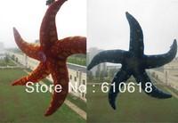 Free Shipping 2Pcs/Lot 2 Colors Starfish Stuffed Plush Glass Sucker Toys Dolls Gifts Car Home Decor Toys