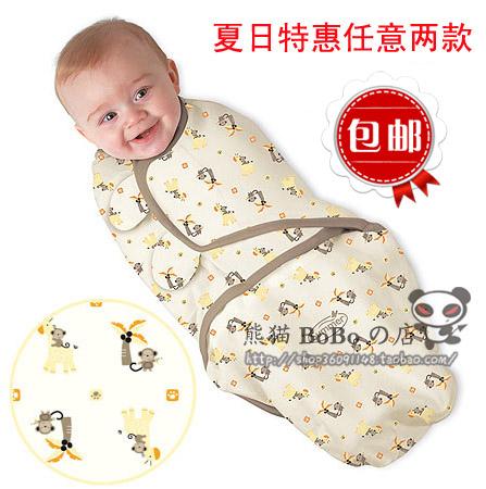 Free Shipping Summer newborn baby swaddleme parisarc sleeping bag four seasons general(China (Mainland))